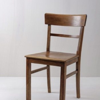Party rental, furniture and decoration rental, brown wooden chairs in Berlin