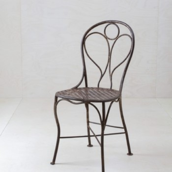 Garden Chair Juan | Our beautiful iron garden chairs with integrated angel on the seat back are dating back till the year 1880. | gotvintage Rental & Event Design