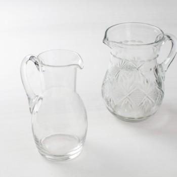 Glaskrug, Glasvasen und Glasdekoration mieten