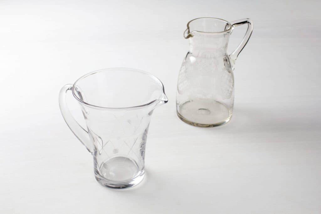 Glaskrug Julia Vintage | Vintage Glaskrüge in verschiedenen Formen und Mustern. | gotvintage Rental & Event Design