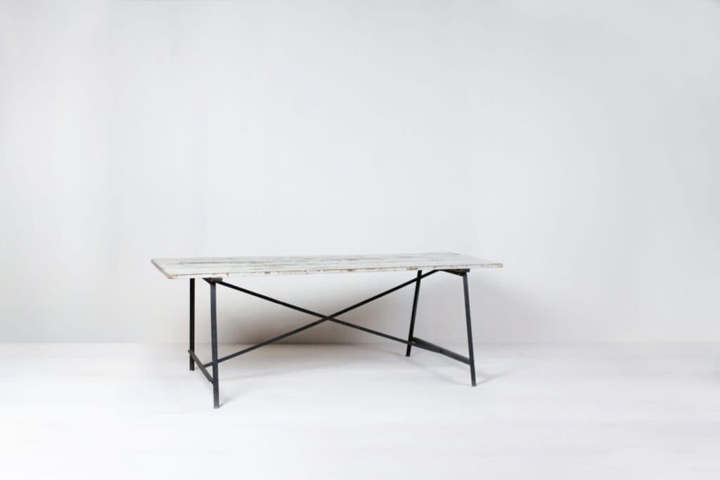 Industrial Table Julian | Beautiful industrial dining table made of metal and wood. Very nice as a garden table, or as a buffet /dessert table. | gotvintage Rental & Event Design