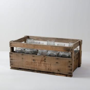 Marmaladenkiste Fermin | Vintage Marmeladenkiste mit zehn originalen Gläsern. | gotvintage Rental & Event Design