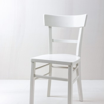 Vintage kitchen chair White semi-gloss finish for rent