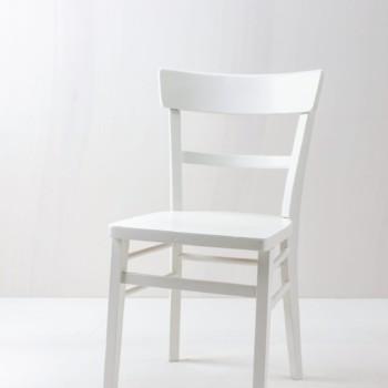 Küchenstuhl Vicenta | Vintage Küchenstuhl, seidenmatt weiss lackiert. | gotvintage Rental & Event Design