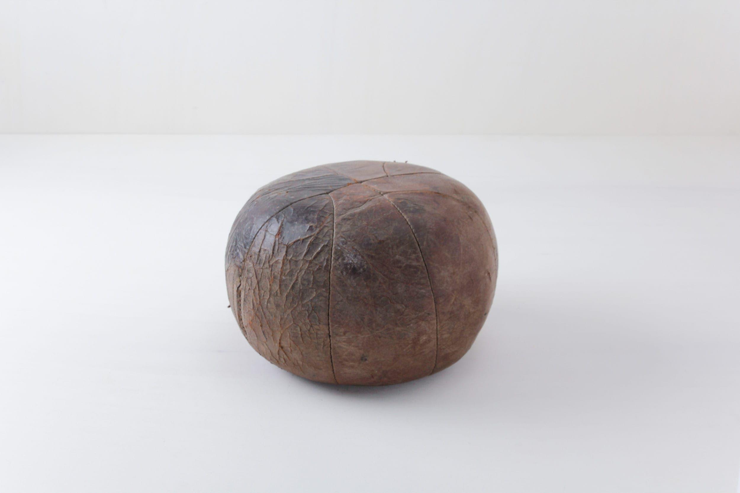 Vintage Medizinball, Lederball, Dekoration