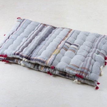 colored mattress, organic Kala cotton, garden party