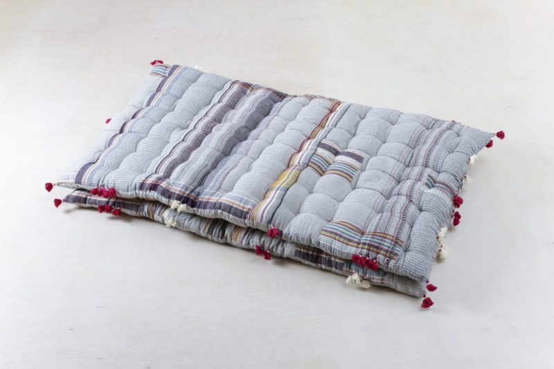 colored mattress, organic Kala cotton, garden party