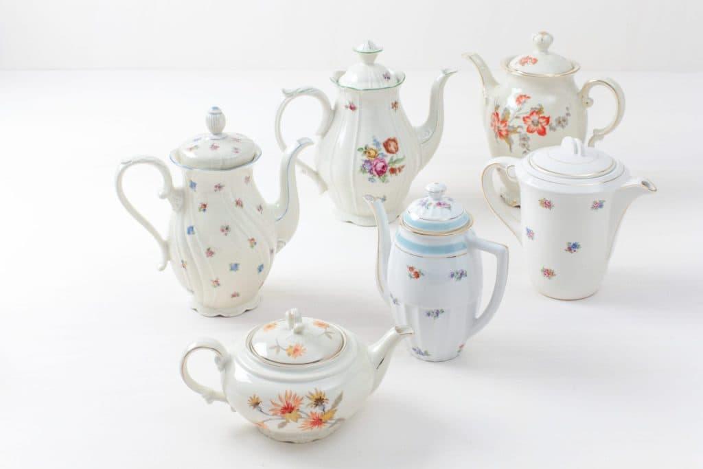 Tea/Coffee Pot Carmen Mismatching Floral | Vintage, various shapes, colours and sizes. | gotvintage Rental & Event Design