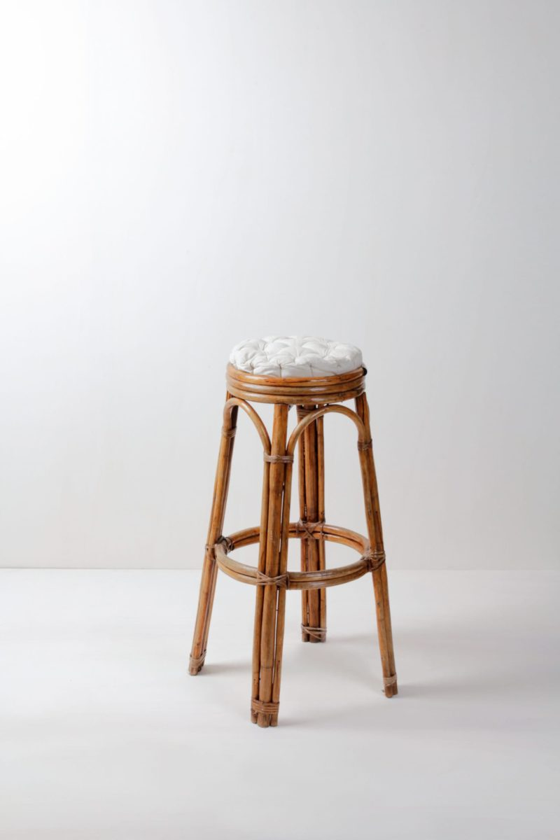 Bar stool, bamboo, for rent