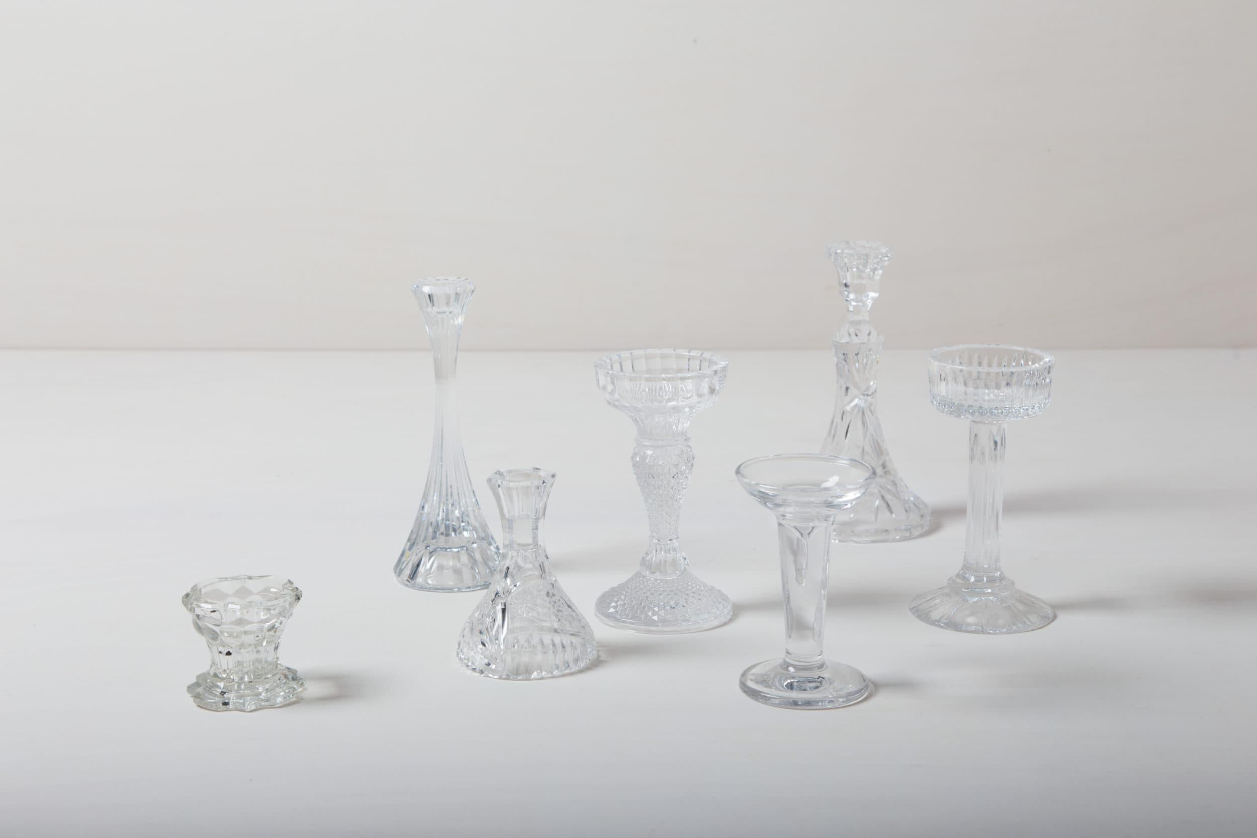 Mismatch Kerzenhalter, Glas, Hochzeitsdekoration, Hochzeitstafel