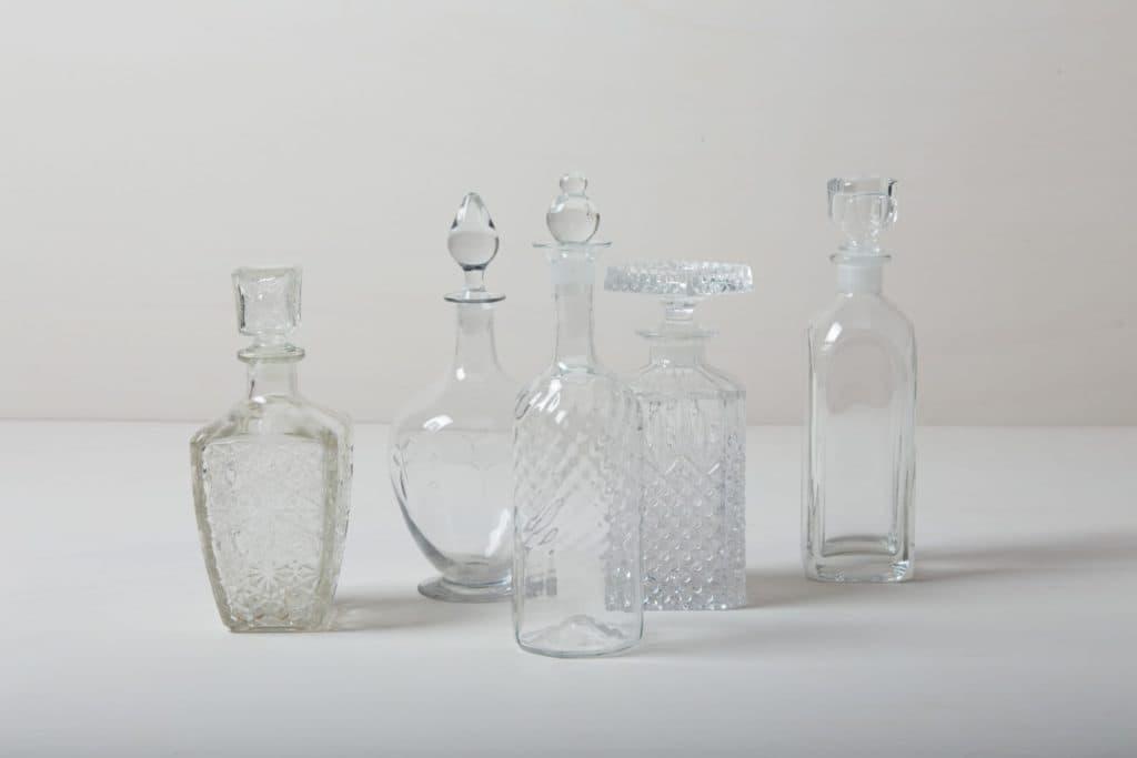 Crystal Glass Bottles Adima | Vintage liquor and whiskey bottles, perfect for your lounge or bar trolley. | gotvintage Rental & Event Design