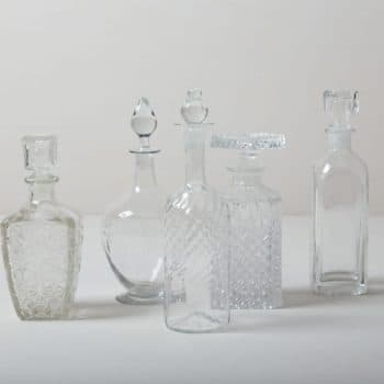 Crystal Glass Bottles Adima | Vintage liquor and whiskey bottles, perfect for your lounge or bar trolley. | gotvintage Rental & Event Design