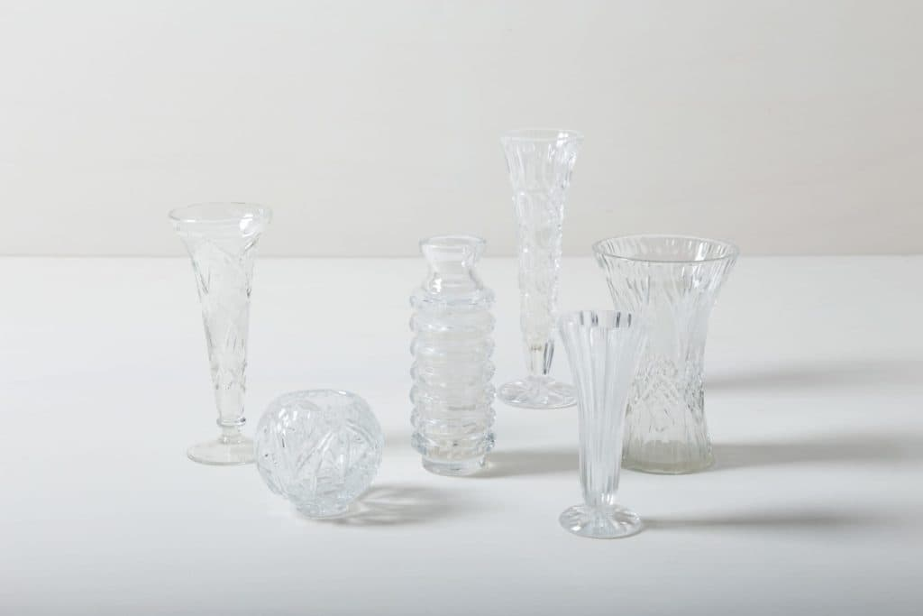Crystal Glass Vases Bella | Vintage vases for small bouquets or single flowers. | gotvintage Rental & Event Design