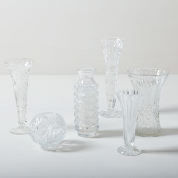 Crystal Glass Vases Bella | Vintage vases for small bouquets or single flowers. | gotvintage Rental & Event Design