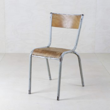 Vintage metal chairs for rent