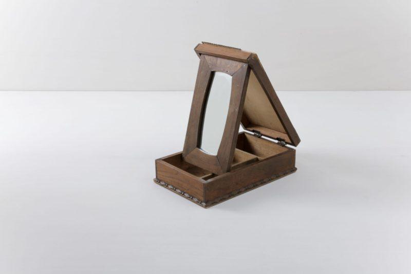 Vintage wooden box, mirror box, fair decoration, rent