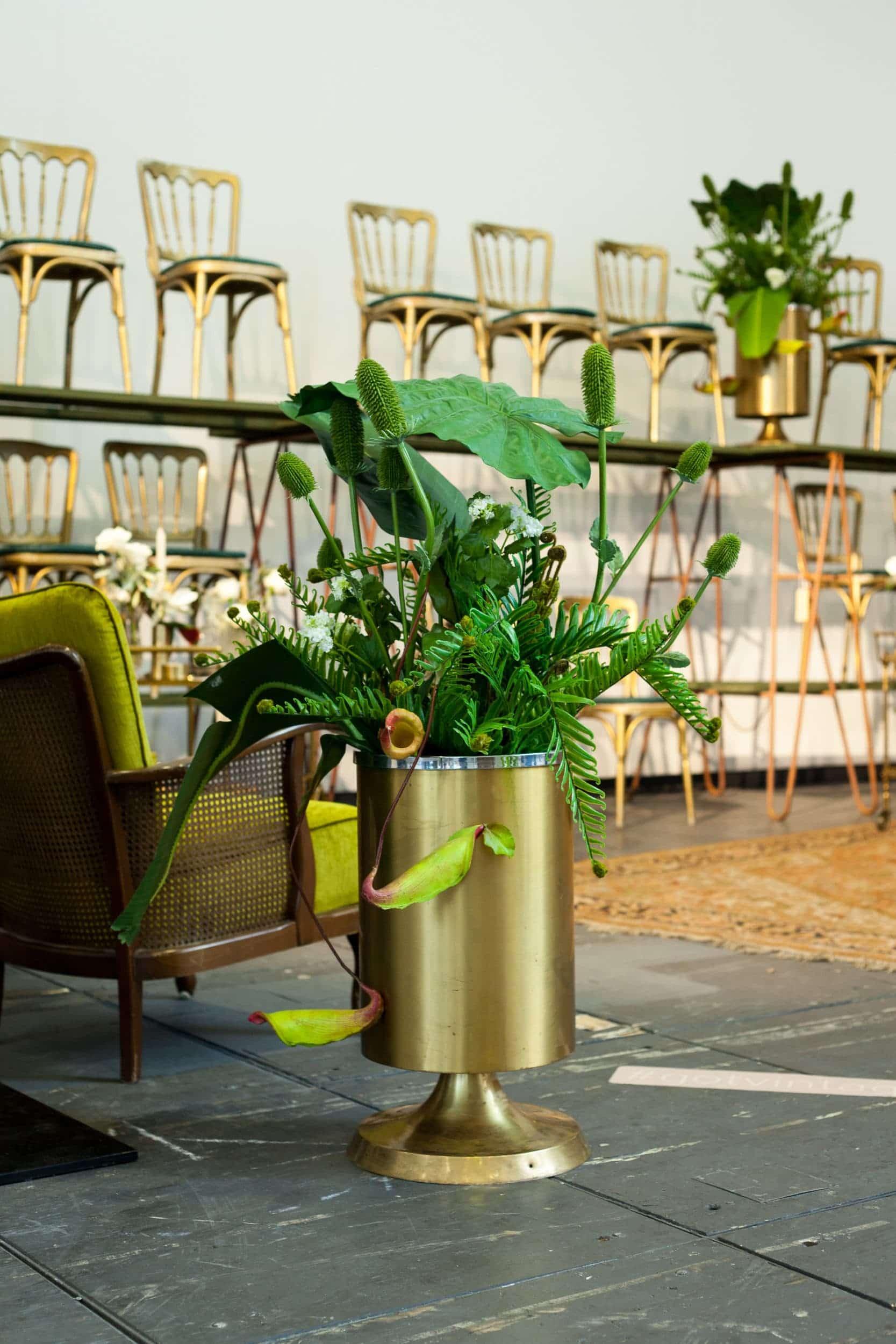 goldene Vase, Event Styling, Event Dekoration, Berlin, Hamburg, Köln