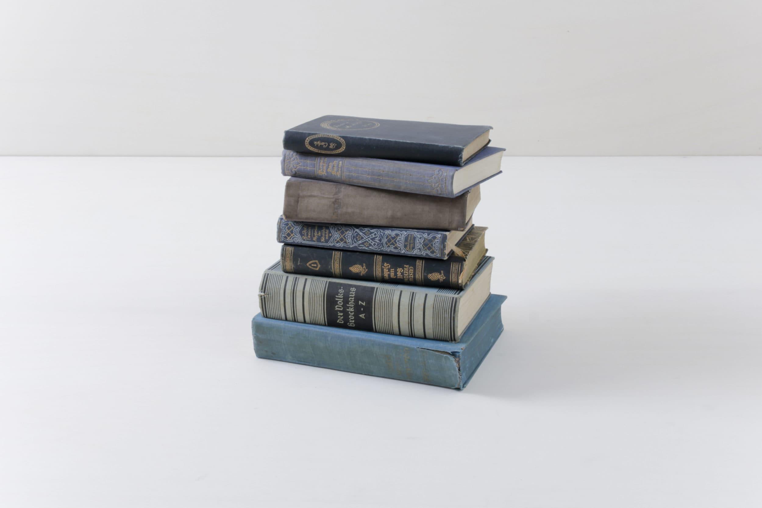 vintage Bücher, Standdekoration, Hintergrundgestaltung