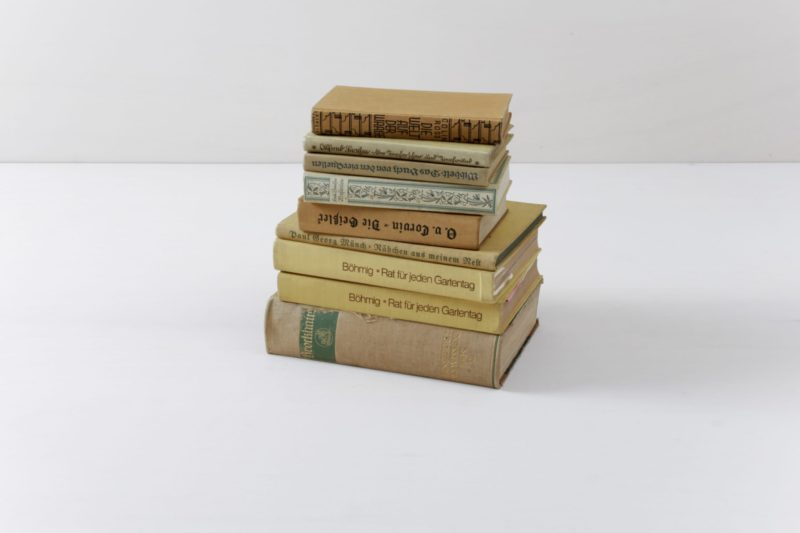 Book pile, Exhibition stand, Decoration