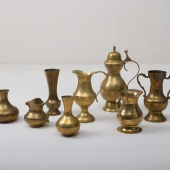Brass Vases Floresta   These magical brass vases enchant with their shine and natural patina. They are an absolute eye-catcher and give each flower ensemble their perfect place, whether for the romantic wedding decoration or for the decoration of your event.   gotvintage Rental & Event Design