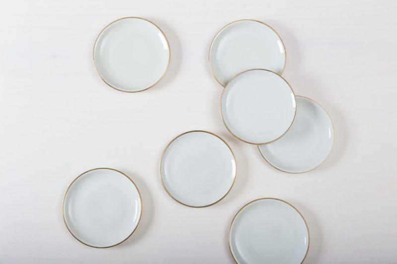 Tableware rental, cake plate, dessert plate, plate rental