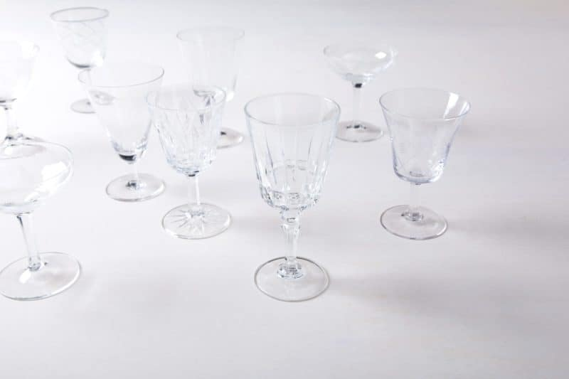 Aperitif Glass Patricia Mismatching   A aperitif drink in a beautiful glass is the perfect start to a perfect dinner.The dimensions are approximate, as each aperitif glass is different.   gotvintage Rental & Event Design