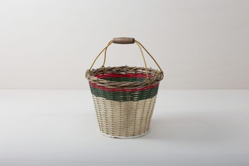 colourful rattan basket, rental furniture, wedding decoration, event styling