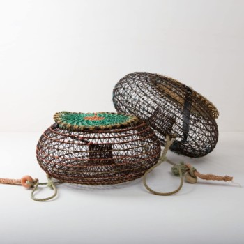 Basket Arenales | Arenales basket is an antique squid trap made of braided wire. The basket bowl is ideal as a maritime decoration, for product presentation, as event styling, the exhibition stand or for flower decoration at the wedding party. | gotvintage Rental & Event Design