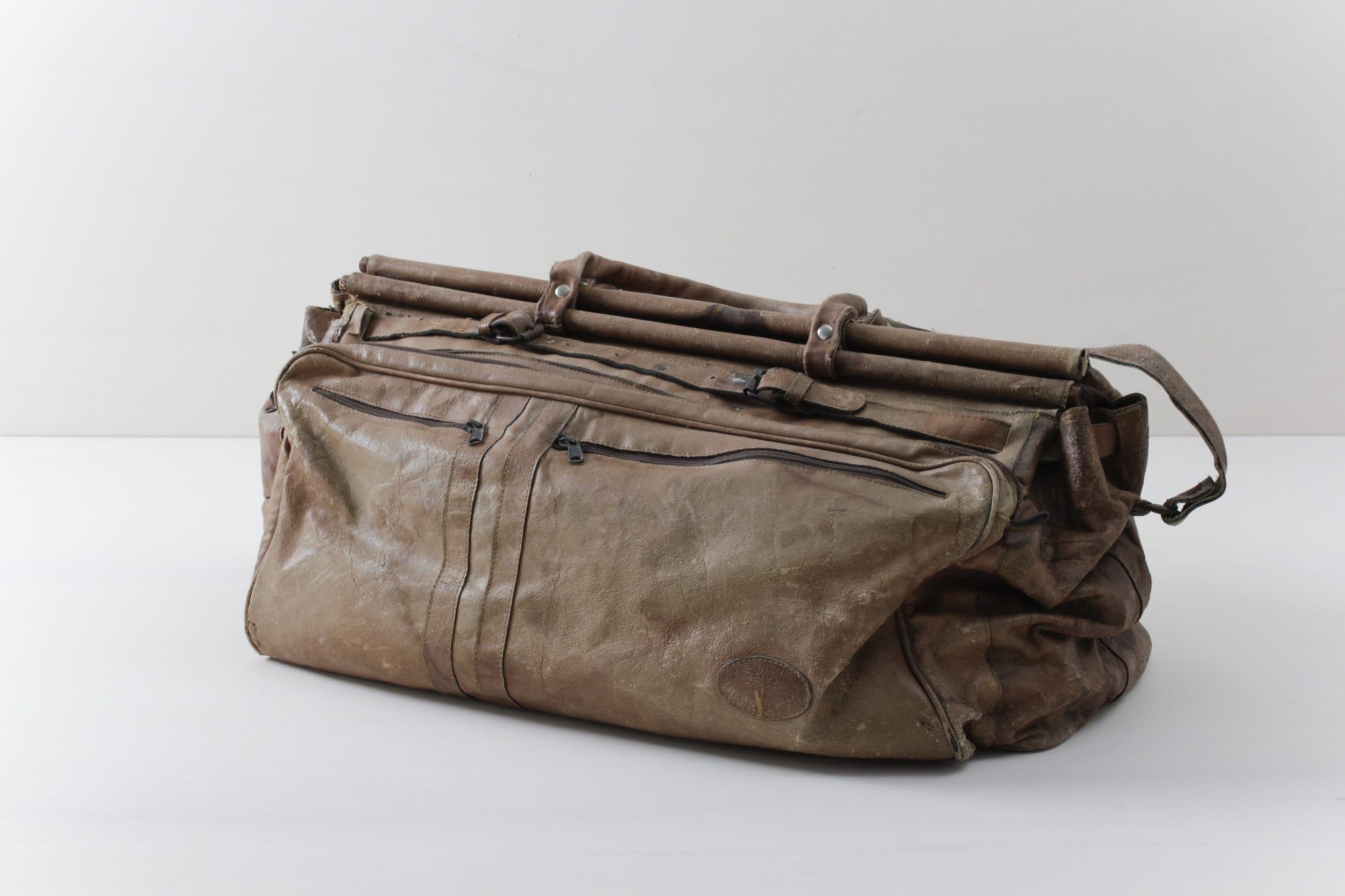 Ledertasche Metan Braun | Vintage Weekender aus echtem Leder. | gotvintage Rental & Event Design