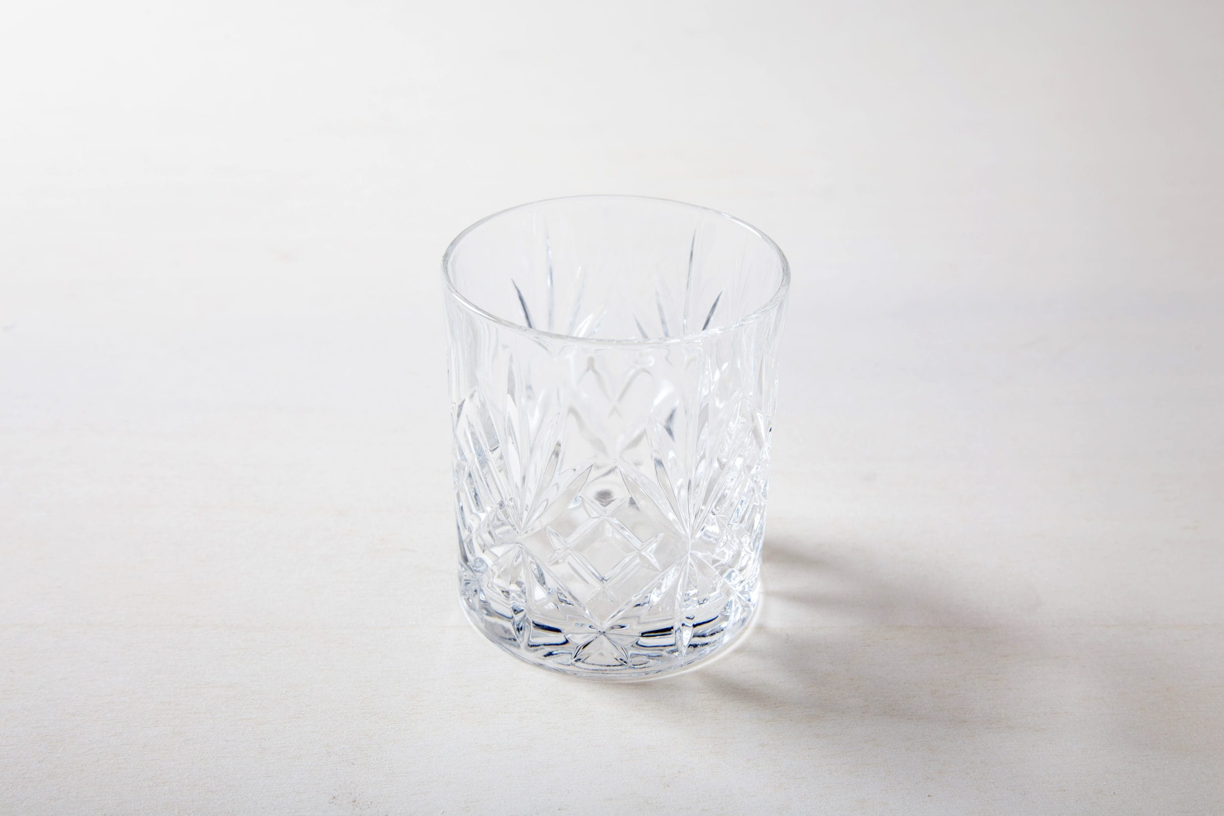 Wasserglas im Retrostil mieten, Old Fashioned Glas, Lowball