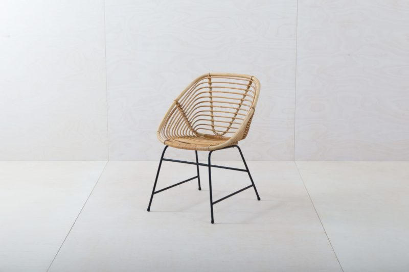 Furniture rental, Rental of wicker and wooden chairs, Vintage Modern
