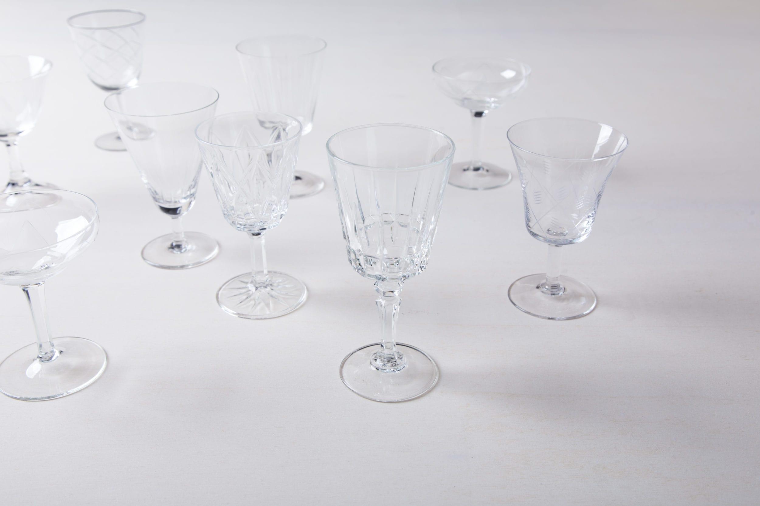 Verleih von Vintage Gläsern, Geschirr und Dekoration