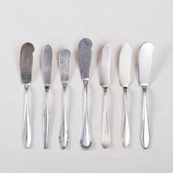 Vintage butter knife & silver-plated cutlery for hire