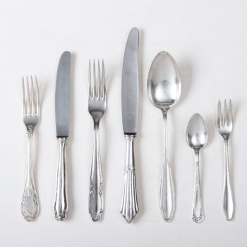 Cutlery set, silver and vintage for rent