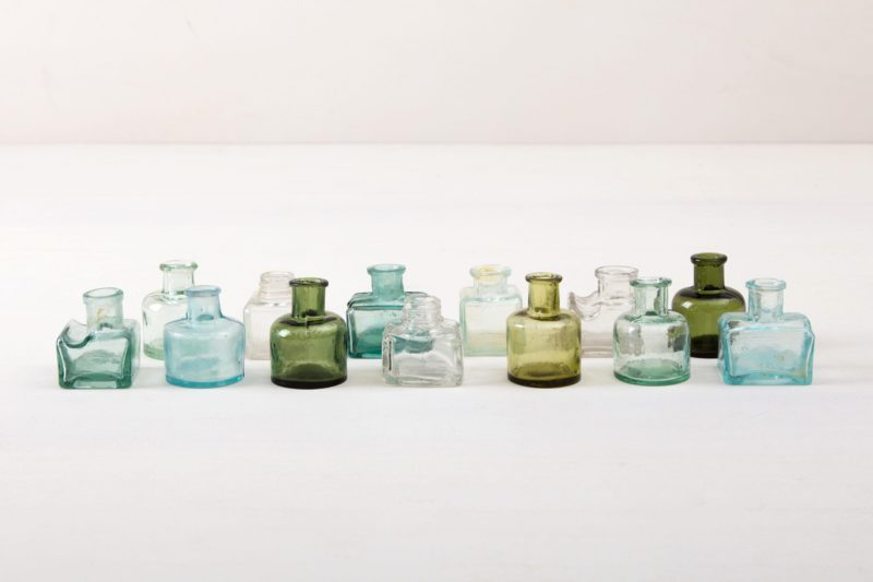 Glass bottles Tala are rare vintage glass bottles in different colors and shapes.