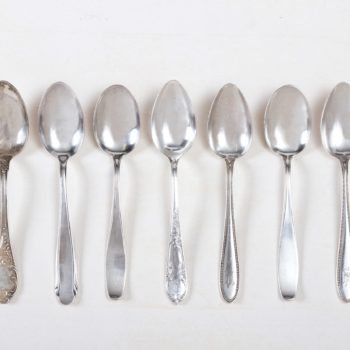 Silver plated vintage cutlery for rent