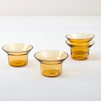Plain amber glass, tealight holder, wedding table
