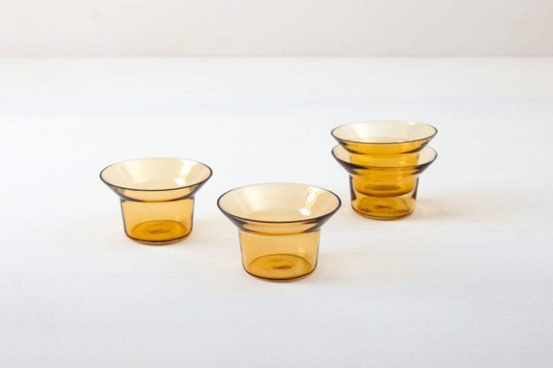 Plain amber glass, tealight holder, wedding table