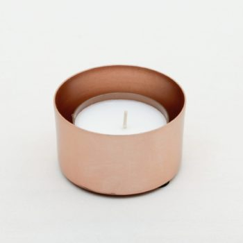 Tealight Holder Elisa Copper | Copper tealight holder. Comes without candle, please order separately.