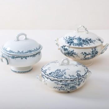 Blaues Porzellan, Vintage Geschirr & Silberbesteck zu mieten