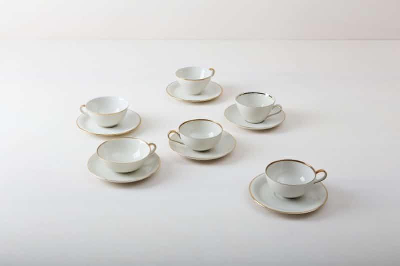 Gold rimmed tableware vintage rental, Berlin & Brandenburg