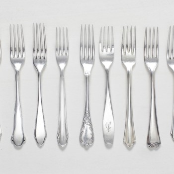 vintage silver cutlery. tableware rental antique silverware.