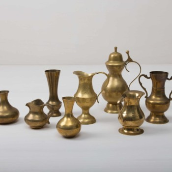 brass vases for romantic wedding decoration
