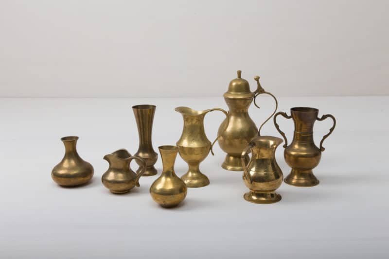brass vases for romantic wedding decoration