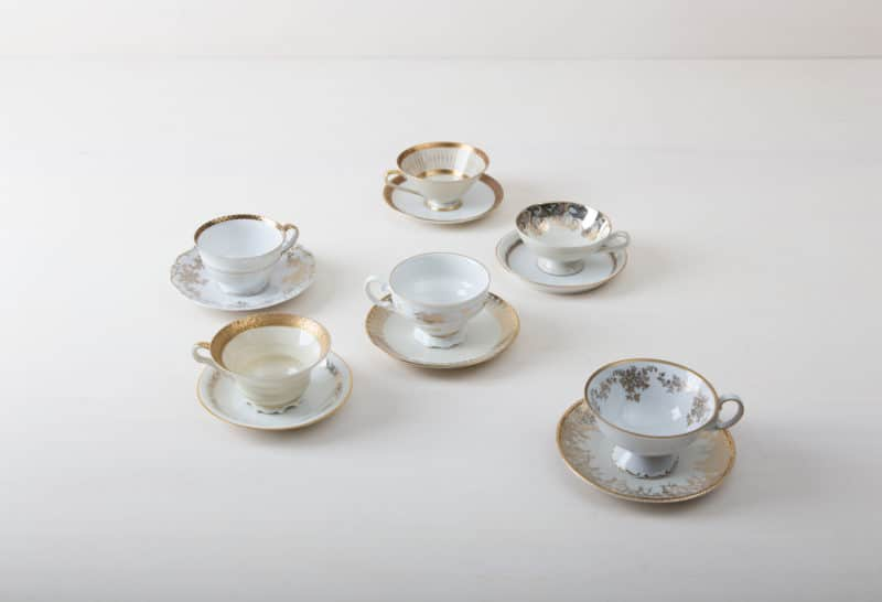 Rent vintage cups and saucers for coffee