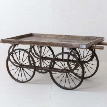 Rent wooden handcart for wedding decoration