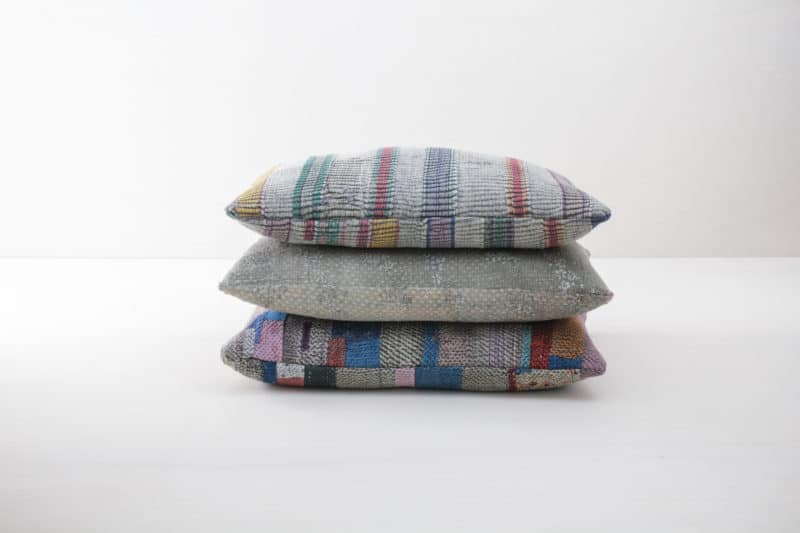   We rent out many of these cushions in a similar style. The vintage cotton fabrics have been reshaped and made into gorgeous unique pieces, into pillow cases. Rent the pillow separately or in combination with other pillows to decorate your picnic, not only boho wedding or trade show stand.  