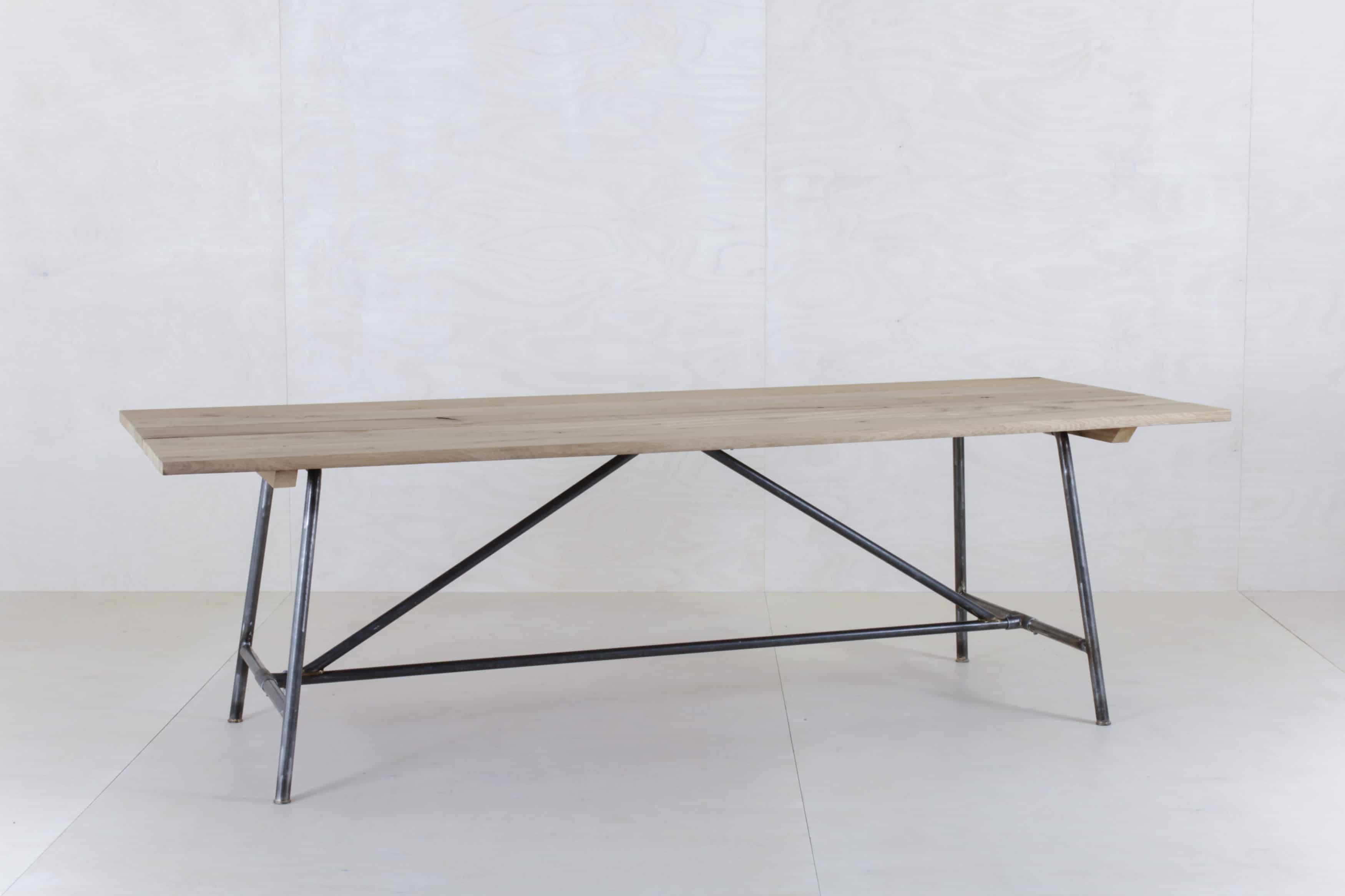 - Wooden Table Constantino Oak & Steel Gotvintage Rental & Event Design