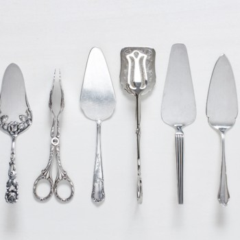 Rent special silver cutlery for table and buffet