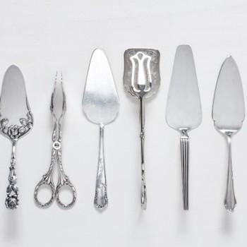 Silbernes Spezialbesteck für Tisch und Buffet mieten